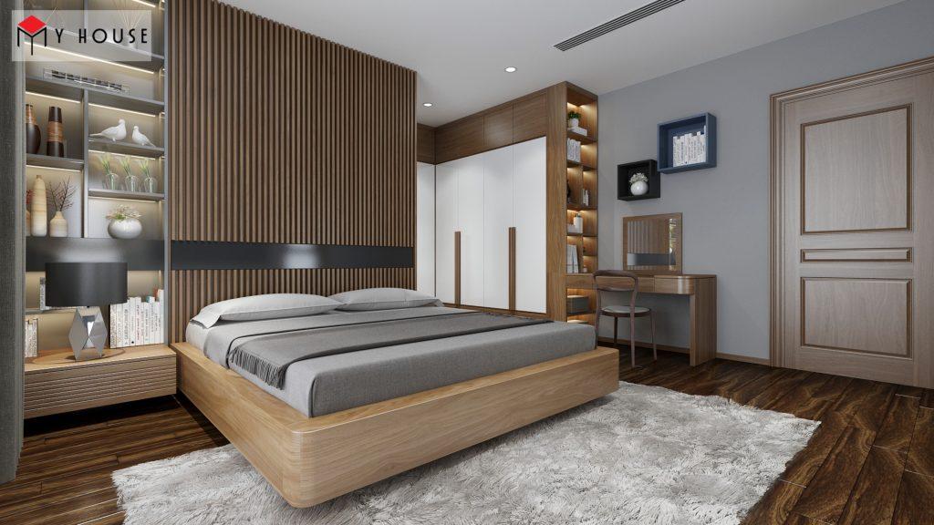 Thiết kế nội thất phòng ngủ biệt thự hiện đại cao cấp