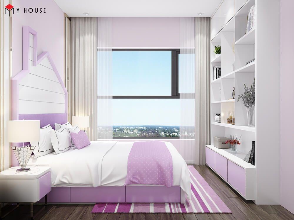 Phòng ngủ bé gái đầy đủ nội thất hiện đại