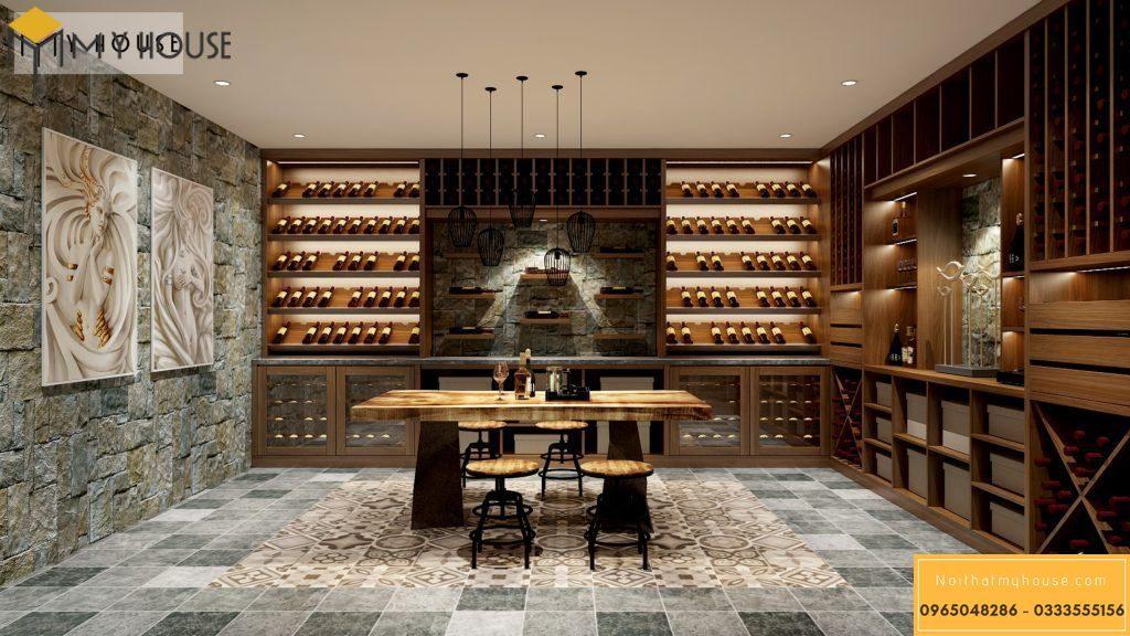 Gỗ là lựa chọn hàng đầu để làm tủ rượu
