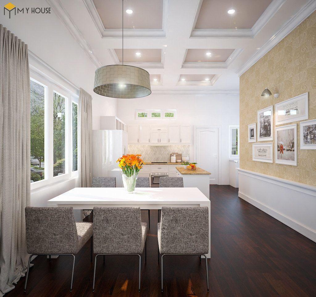 Phòng bếp biệt thự hiện đại 2 tầng - View 1