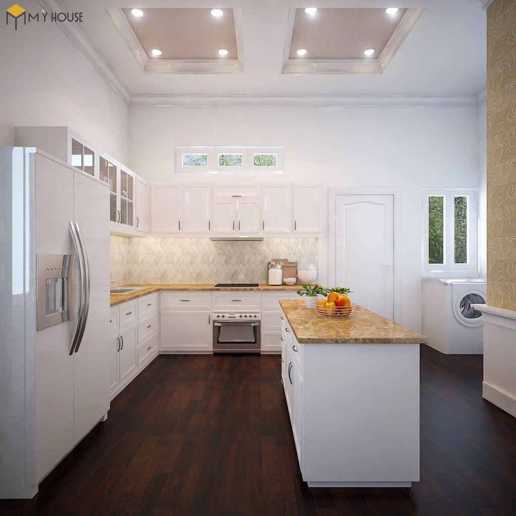 Phòng bếp biệt thự hiện đại 2 tầng - View 2
