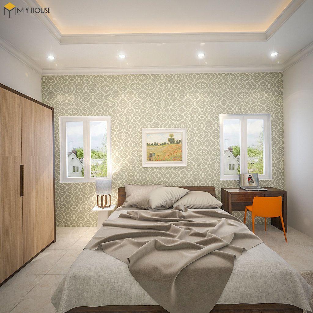 Phòng ngủ master biệt thự hiện đại 2 tầng - View 1