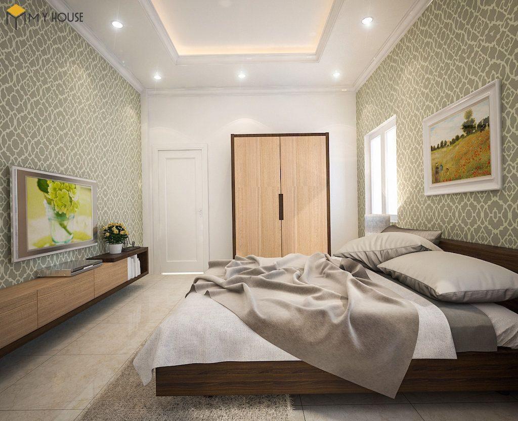 Phòng ngủ master biệt thự hiện đại 2 tầng - View 2