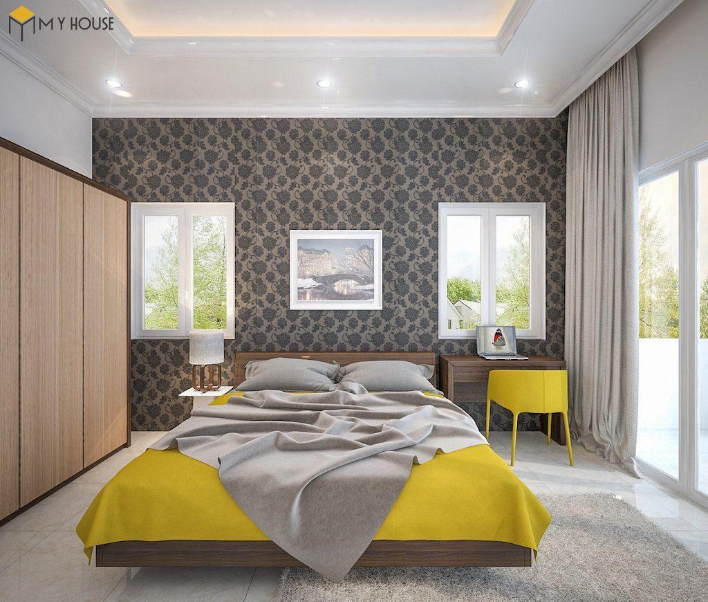 Phòng ngủ master 2 biệt thự hiện đại 2 tầng - View 1