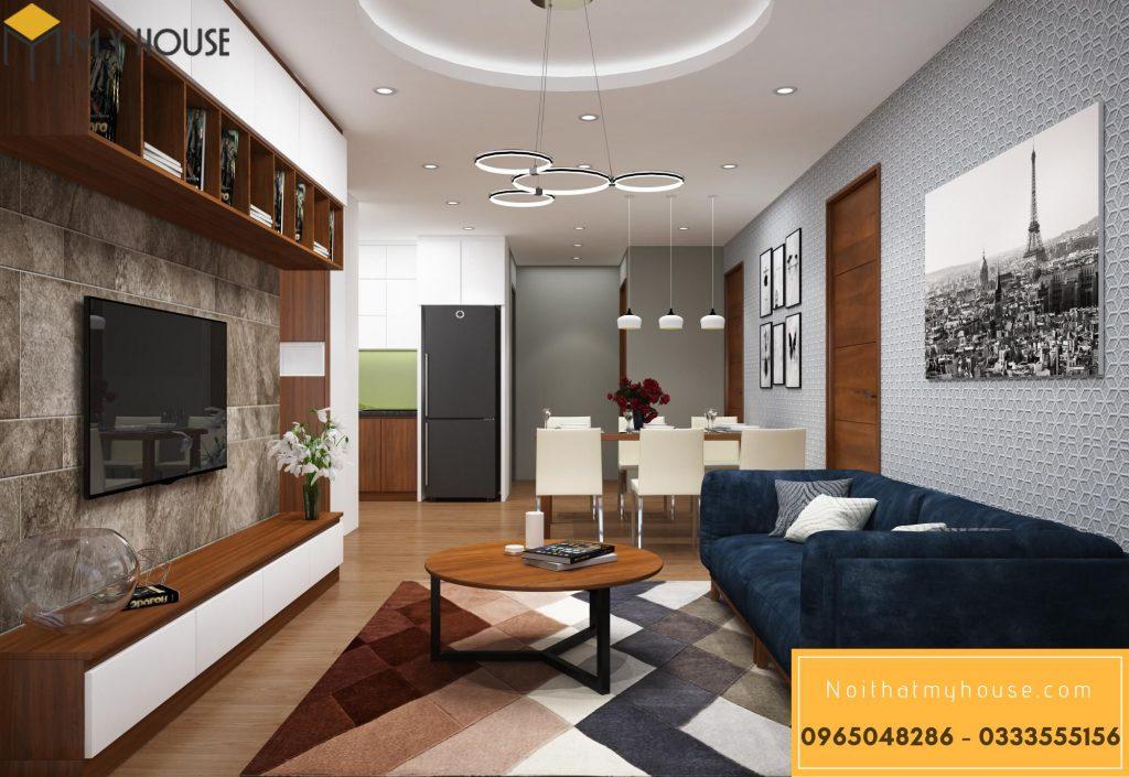 Thiết kế nội thất phòng khách chung cư 90m2