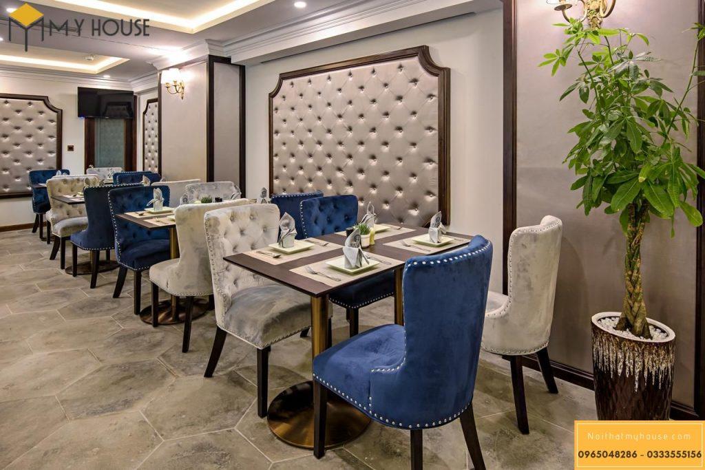 Bố trí nội thất nhà hàng khách sạn Châu Âu