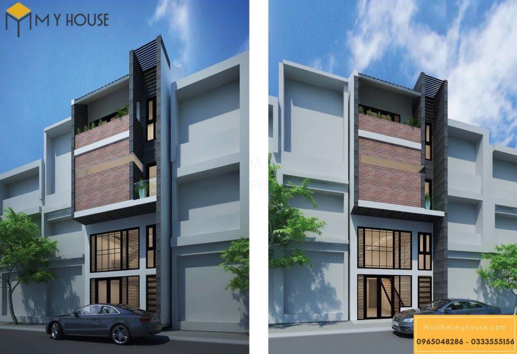 Thiết kế 3 tầng và 1 tầng lửng hiện đại