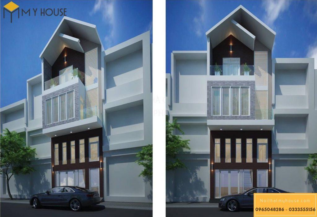 Với thiết kế 3 tầng tinh tế hiện đại tông màu tối giản chủ đạo.