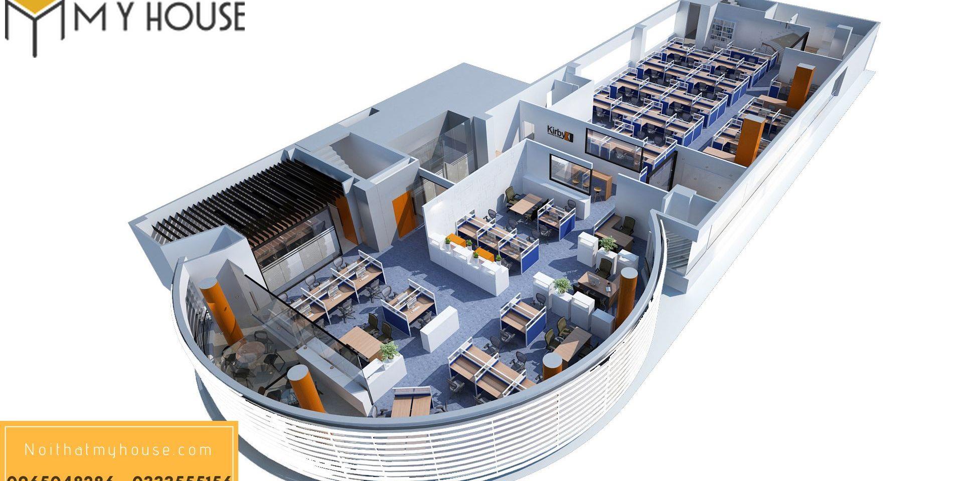 Thiết kế nội thất văn phòng công ty Kiraby