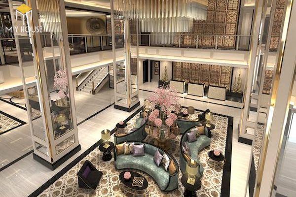 Sảnh khách sạn đẹp - Mẫu 10
