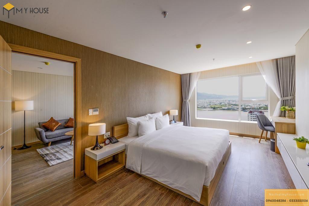 Không gian phòng ngủ khách sạn tinh tế ấn tượng