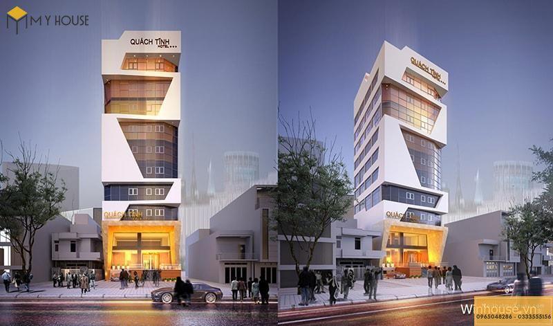 Mẫu thiết kế khách sạn 9 tầng đẹp