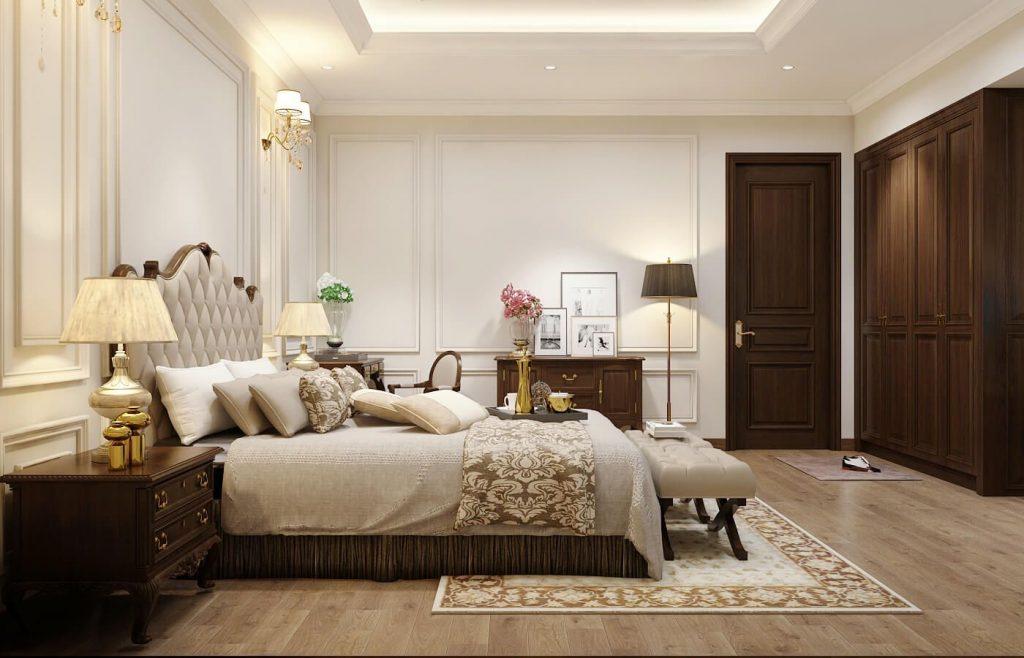 Nội thất phòng ngủ master nhẹ nhàng - View 1