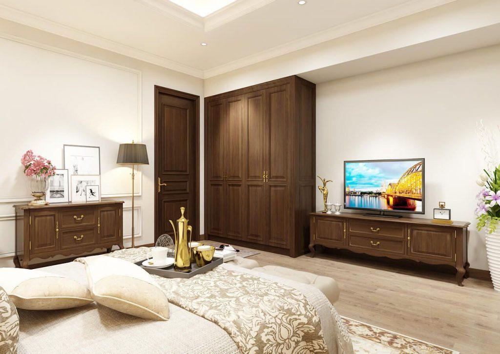 Nội thất phòng ngủ master nhẹ nhàng - View 2