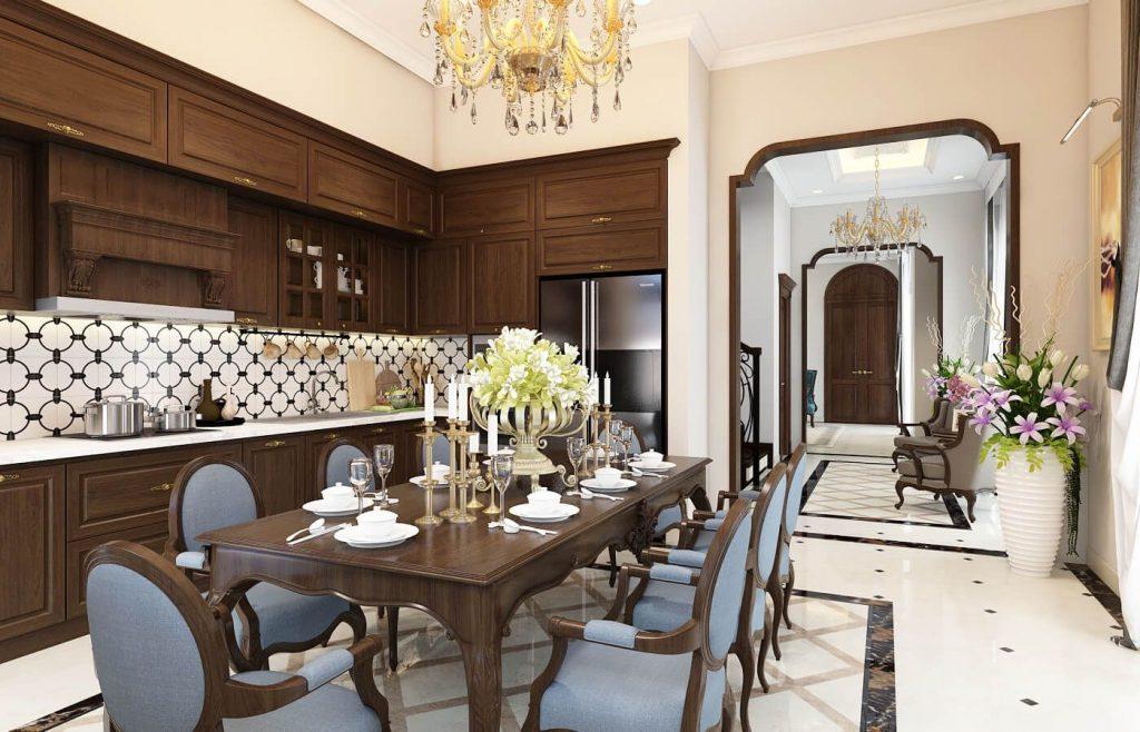 Nội thất phòng bếp - Bàn ăn tinh tế - View 1