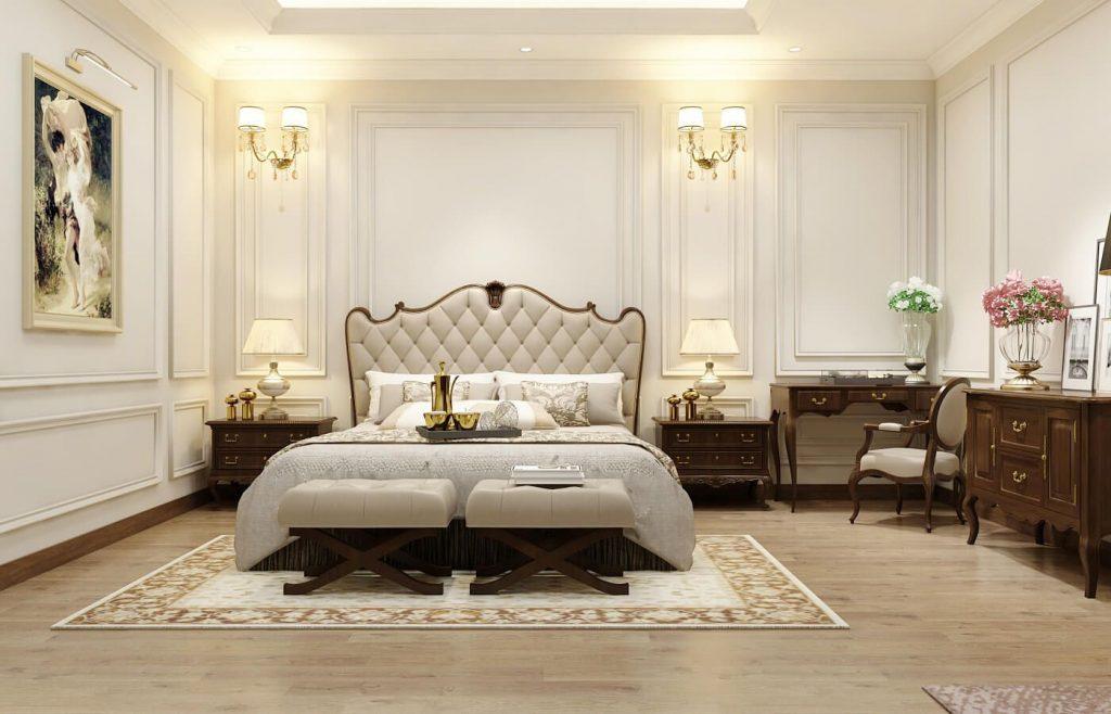 Nội thất phòng ngủ master nhẹ nhàng - View 4