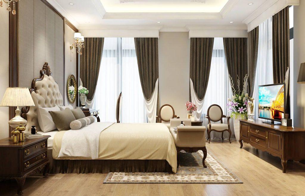 Nội thất phòng ngủ master nhẹ nhàng - View 5