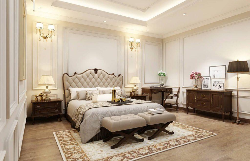 Nội thất phòng ngủ master nhẹ nhàng - View 3