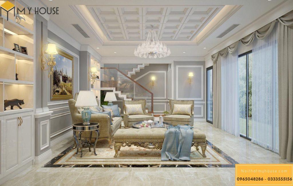 Xu hướng thiết kế nội thất biệt thự cổ điển