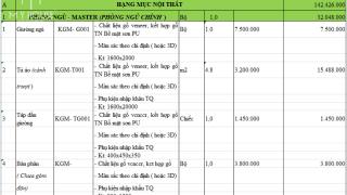 Dự toán thi công nội thất 5