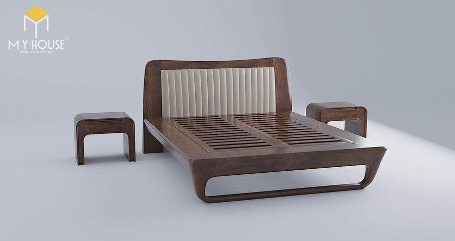 Phong cách giường ngủ gỗ óc chó đang cực hot hiện nay