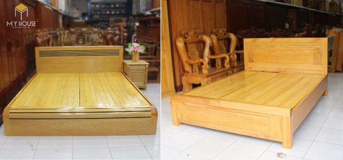 Giường làm bằng gỗ cây pơ mu