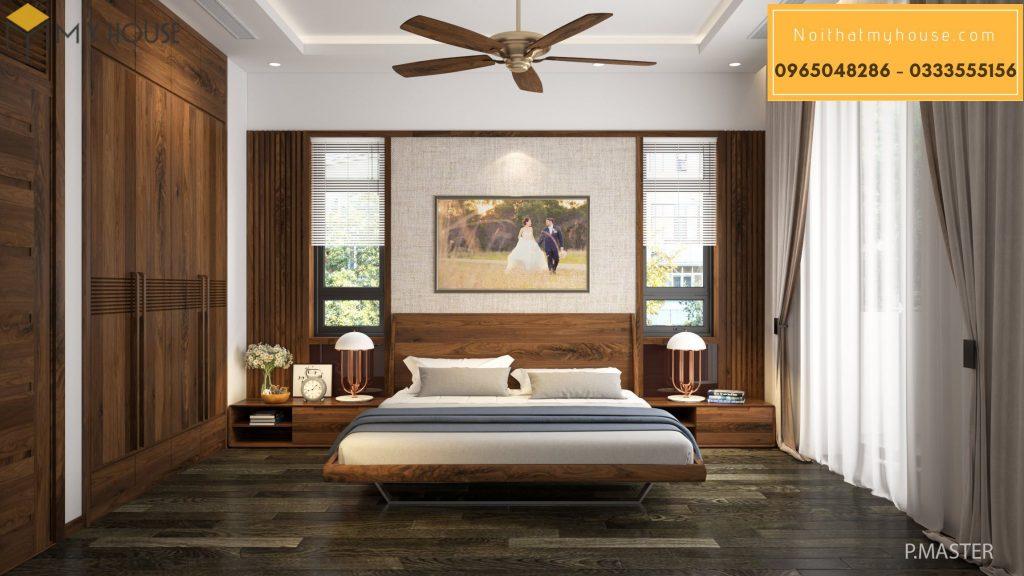 Nội thất phòng ngủ diện tích 20m2 đẹp - Mẫu 2