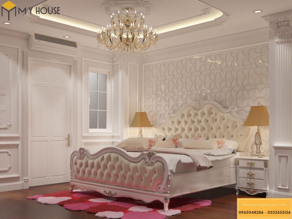 Nội thất phòng ngủ cao cấp tân cổ điển - Mẫu 3