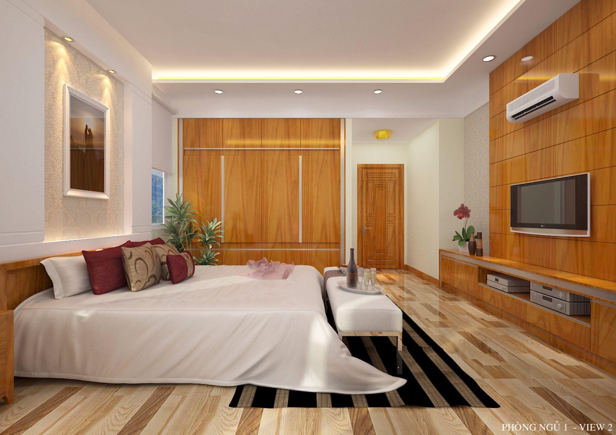 Nội thất phòng ngủ master rộng 30m2 _ Mẫu 1
