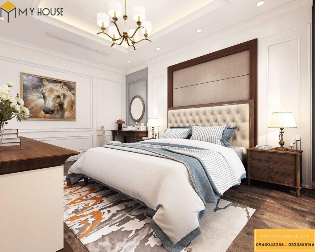 Thiết kế nội thất phòng ngủ master tân cổ điển - View 5