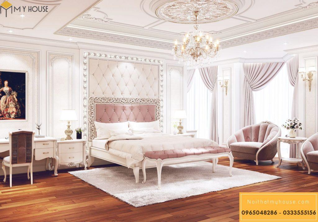 Bố trí nội thất phòng ngủ phong cách Châu Âu