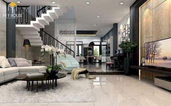 Phòng khách nhà ống có cầu thang - Hình ảnh 15