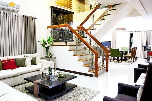 Phòng khách nhà ống có cầu thang - Hình ảnh 17