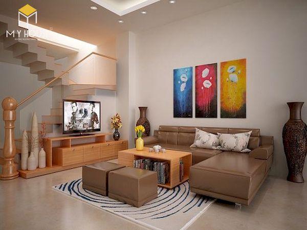 Phòng khách nhà ống có cầu thang - Hình ảnh 22