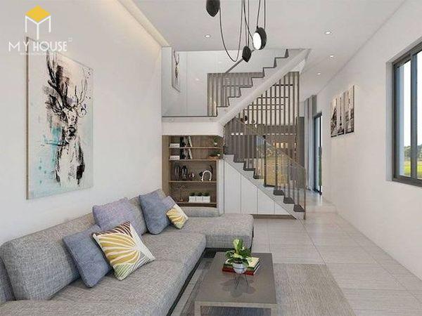 Phòng khách nhà ống có cầu thang - Hình ảnh 24