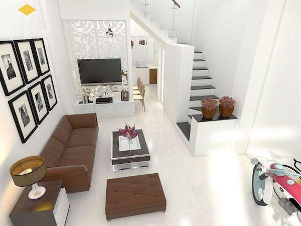 Phòng khách nhà ống có cầu thang - Hình ảnh 7