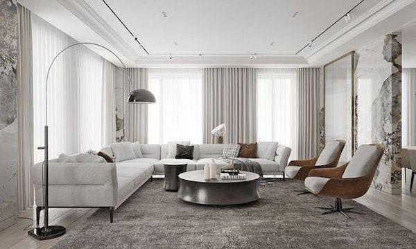Phòng khách hiện đại - Mẫu 18
