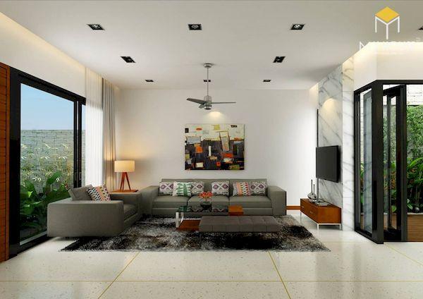 Phòng khách hiện đại - Mẫu 9