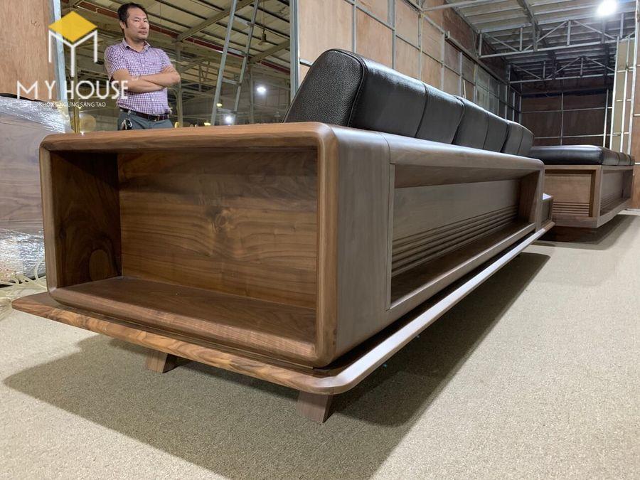 Hình ảnh sofa gỗ óc chó tại nhà máy sản xuất nội thất My House - View 7