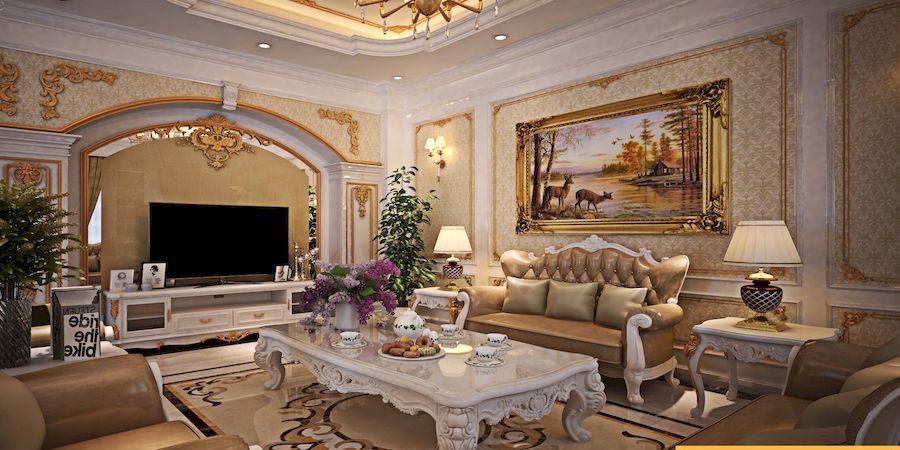 Nội thất phong cách cổ điển cho căn hộ diện tích lớn