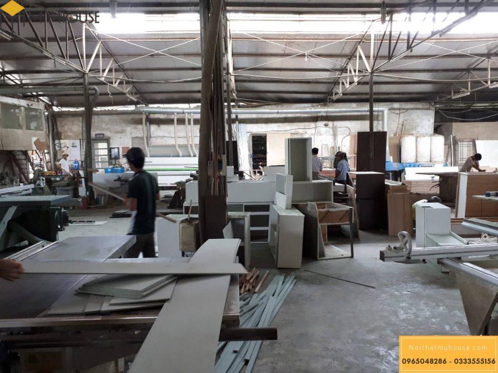 Sản xuất nội thất tại xưởng