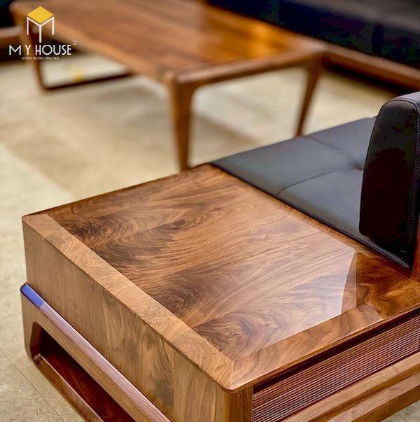 Sản phẩm hoàn thiện với đường nét tinh sảo giữ nguyên toàn bộ vân gỗ óc chó tự nhiên