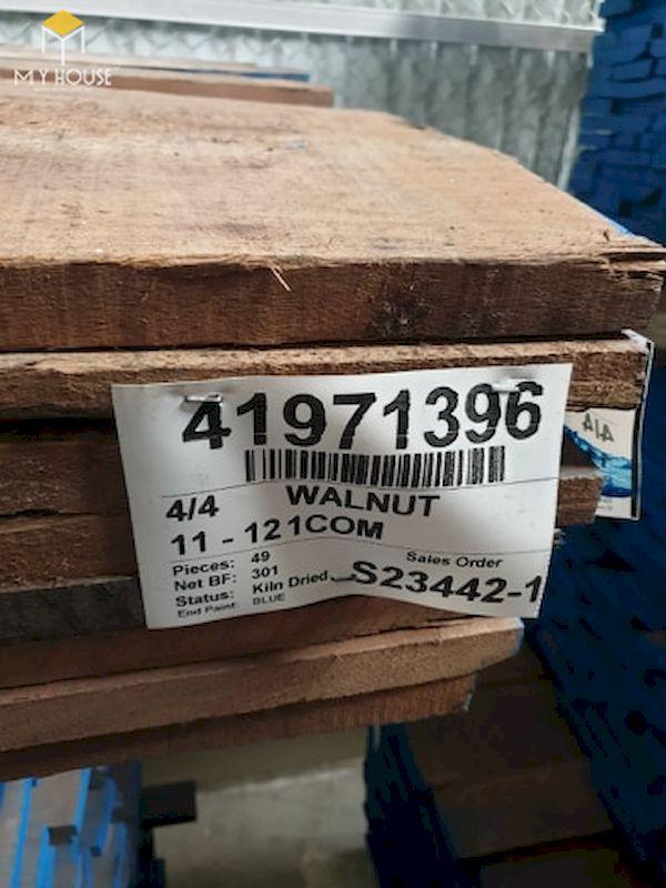 Gỗ óc chó thô được nhập khẩu trực tiếp từ Bắc Mỹ đã qua tẩm sấy, xử lý gỗ theo tiêu chuẩn - Hình ảnh 5