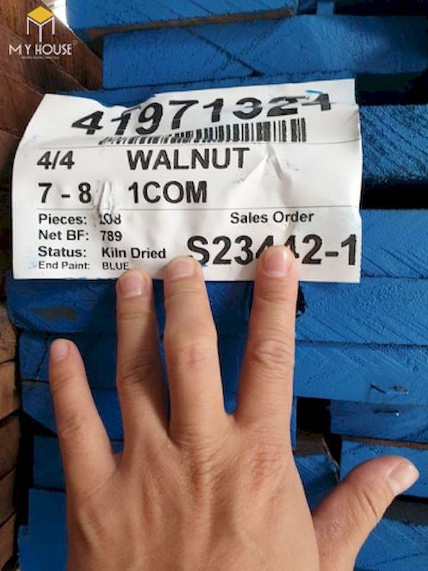 Gỗ óc chó thô được nhập khẩu trực tiếp từ Bắc Mỹ đã qua tẩm sấy, xử lý gỗ theo tiêu chuẩn - Hình ảnh 4