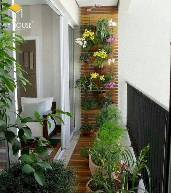 Mẫu trang trí ban công chung cư đẹp - Hình ảnh 2