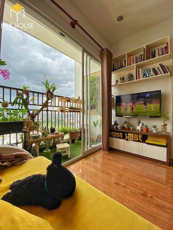 Mẫu trang trí ban công chung cư đẹp - Hình ảnh 6