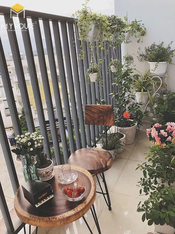 Mẫu trang trí ban công chung cư đẹp - Hình ảnh 7