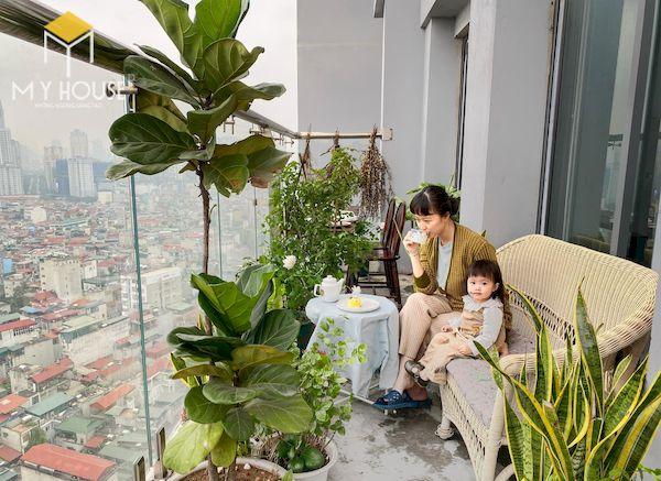 Mẫu trang trí ban công chung cư đẹp - Hình ảnh 10