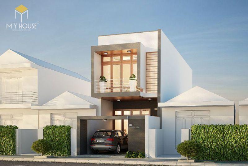 Mẫu nhà 2 tầng 5x15m được thiết kế với phần mái bằng đổ bằng bê tông cốt thép chắc chắn