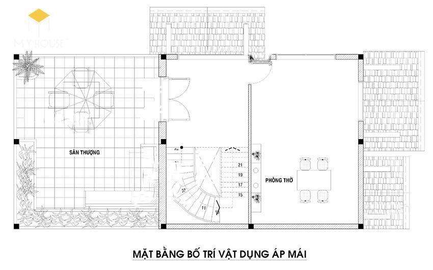 Biệt thự 2 tầng mái thái 3